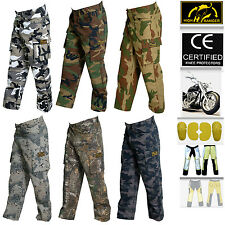Men's Motorbike Camouflage Trousers Pants Reinforced with DuPont™ Kevlar® fiber