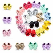 Baby kid Toddler Infant Moccasin Crib Shoes Baby Soft Soled Leather PreWalker