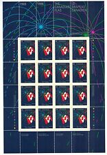Canada Stamps Full Inscription Sheet or Pane of 16 Scott# 1278 MNH Canadian Flag