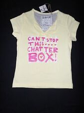 Girl's Cotton 'Can't Stop This Chatterbox', T-Shirt, Size: 4 Left Only, BNWT