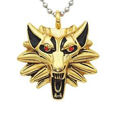 Mens Stainless Steel Wolf Head Pendant Silver Ball Chain Necklace Jewelry