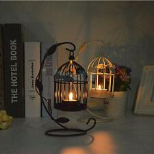 Black/White Birdcage Lantern Candle Holder Tea Light Stand Centerpiece Decor