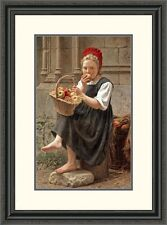 Global Gallery 'The Apple Girl' by Charles Victor Thirion Framed Painting Print