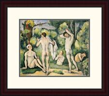 Global Gallery 'The Five Bathers' by Paul Cezanne Framed Painting Print