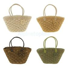Women Summer Straw Weave Shoulder Tote Shopping Lady Beach Bag Handbag Shell Bag