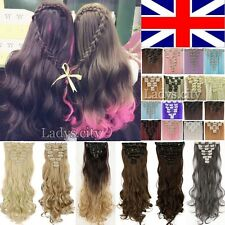 As Remy Hair 8 Pieces Fashion Lady Clip in Hair Extensions Human Long Curly TI9