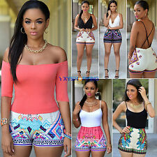 New Women Summer Casual Playsuit Holiday Beach Dress Shorts Sexy Jumpsuit Romper