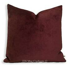 Luxury Designer Chenille Burgundy Red Cushion Pillow Cover