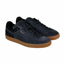 Puma Suede Stars Mens Grey Suede Lace Up Sneakers Shoes