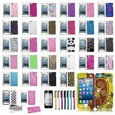 Glitter Diamond Case Bling Hard Cover For Apple ipod touch 5th 6+LCD Guard+Pen