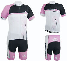 Merida Ladies Cycling Clothing Set Women's Cycle Jersey and Pants Short Kit Pink