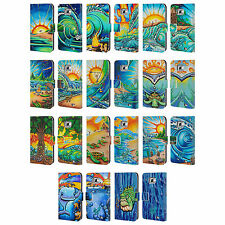 OFFICIAL DREW BROPHY SURF ART 2 LEATHER BOOK WALLET CASE FOR SAMSUNG PHONES 2
