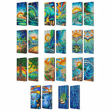 OFFICIAL DREW BROPHY SURF ART 2 LEATHER BOOK WALLET CASE COVER FOR SONY PHONES 2