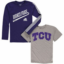TCU Horned Frogs Youth Squad T-Shirt Combo Pack - Purple/Gray - College