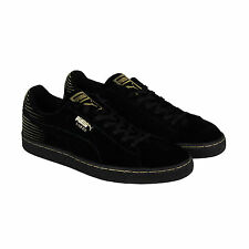 Puma Suede Metallic Fade Mens Black Suede Lace Up Sneakers Shoes