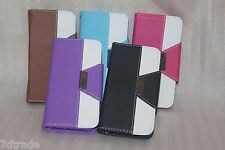 Magnet Folio wallet case Cover with strap card slot For Apple Iphone 5 5s 5c SE
