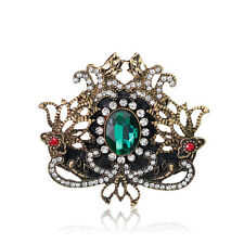 Vintage Butterfly Crown Lady Wedding Rhinestone Crystal Bouquet Brooches Pins