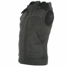 Mens Firetrap Nep Knit Gilet - Charcoal - Brand New with Tags - RRP: £84.99