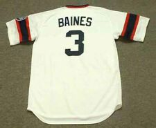 HAROLD BAINES Chicago White Sox 1985 Majestic Cooperstown Home Baseball Jersey
