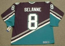 TEEMU SELANNE Anaheim Mighty Ducks 1997 CCM Throwback Away NHL Hockey Jersey