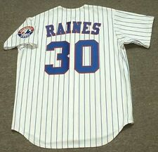 TIM RAINES Montreal Expos 1990 Majestic Throwback Home Baseball Jersey