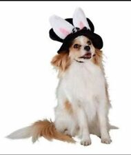 Plush Top Hat with Bunny ears Dog hat Size Small or Large EASTER