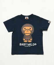 A BATHING APE BABY MILO TEE 4 colors Print BAPE Kids Cotton T-shirt From Japan