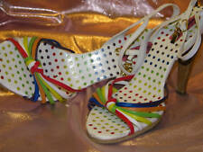 BETSEY JOHNSON - BETSEYVILLE *Multi-Color STRAPS SANDALS-9.5- EUC-Must SEE