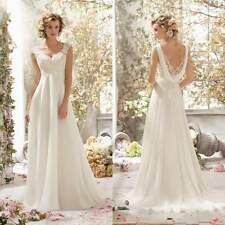 New Womens Sexy V Neck Backless Lace Patchwork Chiffon Wedding Party Maxi Dress