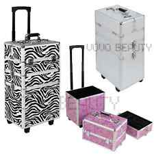 Pro 3in1 Interchangeable Aluminum Rolling Makeup Case Cosmetic Train Box Trolley