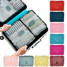 6Pcs/Set Waterproof Travel Storage Bags Clothes Packing Cube Luggage Organizer