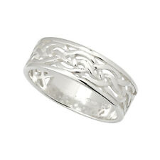 Celtic Weave Ring Sterling Silver Unisex Irish Made
