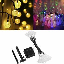 6M 30 LED Solar Power RGB LED String Fairy Lights Outdoor Garden Party Lamp IP65