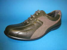 """Easy B by DB """"Emma"""" Ladies Olive Suede Leather Lace Up EE Width Fitting Shoes"""