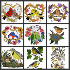 Nature weaved in threads, Amazing Birds Love Nest Embroidered Iron On Patch