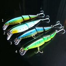 3 Sections Multi Jointed Minnow Fishing Lure Baits Crankbait Sinking Hook Tackle