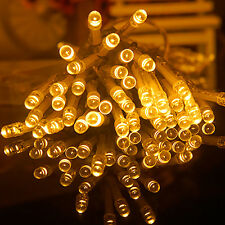 New Warm White 100LED String Fairy Lights Garden Party Indoor/Outdoor Christmas