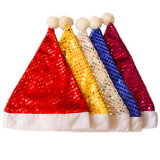Adult Sequin Party Santa Father Cap XMAS Fancy Costume Hat Christmas Gifts