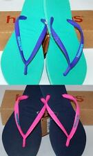 HAVAIANAS NEW SLIM LADIES THONGS FLIP FLOPS POP UP Navy Pink, Green Purple Logo