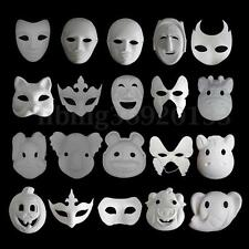 Unpainted Plain/Blank Animal Version Paper Pulp Face Mask Masque Party Halloween