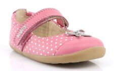 Bobux Step Up Swing Ballet Shoes Peony and White Dots