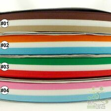 "5/8"" 16mm mixed colors strips grosgrain RIBBON 5/50yards craft sewing U pick"