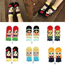 Top Quality Womens Princess Cute Cartoon Girls Cotton Ankle Socks Low Cut Socks