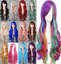 Halloween Cosplay Wig Sexy 80cm Long Curly Fashion Costume Anime Full Wavy Hair