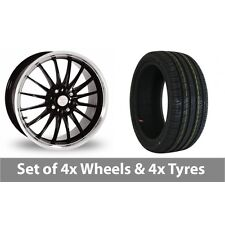 """4 x 17"""" Team Dynamics Jet Black Polished Alloy Wheel Rims and Tyres -  245/70/16"""