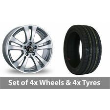"""4 x 15"""" Wolfrace DH Silver Alloy Wheel Rims and Tyres -  205/65/15"""