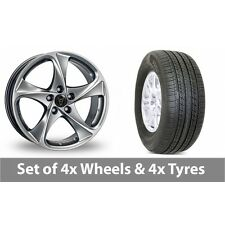 """4 x 16"""" Wolfrace Catania Shadow Chrome Alloy Wheel Rims and Tyres -  225/60/16"""