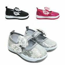 New Adorable Infant Toddler Baby Girl Sequin Mary Jane Dress Shoes Bow Sizes2-9
