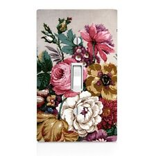 Vintage Floral Wall Plate Toggle Decor Switch Plate Cover