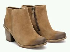 Clarks BNIB Ladies Heeled Ankle Boots Marble Cool Khaki Suede UK 5.5 / 6.5